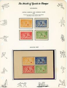 NICARGUA-- Lot of 25 different stamps and Souvenir Sheets