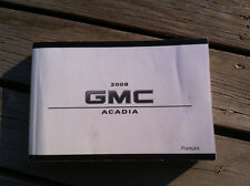 Gmc ACADIA - 2008 - Owner's Manual - IN FRENCH - XF