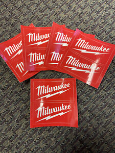 Brand New X10 Milwaukee Tool Stickers Hard Hat Lunch Box Backpack Binder