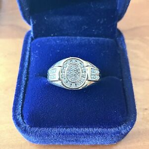 14k Solid Yellow Gold 0.50ct Diamond Men's Ring