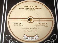 "JERRY KELLER - HERE COMES SUMMER / JOHNNY CYMBAL - MR BASS MAN   7"" VINYL"