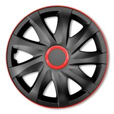 "SET of HUB CAPS 14"" 15"" 16"" Inch Wheel Trims Plastic Universal Push-In (73-75)"