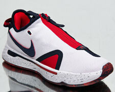 Nike PG 4 USA Men's White Obsidian University Red Low Basketball Sneakers Shoes