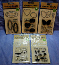 Hero Arts Stamp & Cuts Lot of 5 packs: flowers/birthday/tags/butterfly/hearts