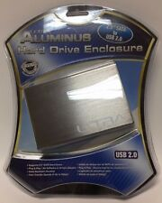 "Ultra - ULT40243 - Aluminus Hard Drive Enclosure – 2.5"" SATA to USB 2.0, Brushe"