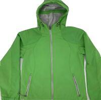 Black Diamond Double Diamond Womens ZIP Jacket Lime GREEN Softshell Small