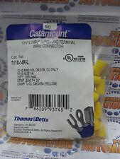 THOMAS & BETTS, TV10-14R-L, VINYL INSUL RING TERMINAL 12-10#14  50/PKG