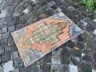 Turkish small rug, Handmade wool rug, Vintage rug, Doormat | 1,8 x 2,8 ft
