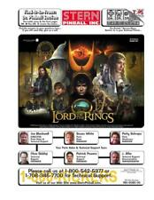 The Lord of the Rings Pinball FULL Service & Repair Operations Color Manual   VB