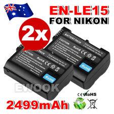2x OZ G Backup for Nikon EN-EL15 Battery Camera ENEL15 P7000 D5100 D3100 D3200