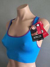 BNWT Womens Sz L/14 Bendon Brand Blue/Purple Sports Crop Top Style Bra Gym Top