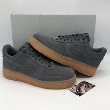 Nike Air Force One Dark Grey Suede Low Gum Bottom Size 9.5 Men 11 Women Jordan 1