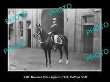 OLD 8x6 HISTORIC PHOTO OF NEW SOUTH WALES MOUNTED POLICE OFFICER c1940