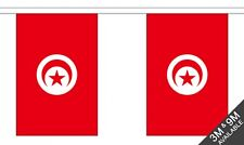 TUNISIA 6 metre FLAG BUNTING 20 flags TUNISIAN TUNIS