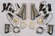 "2.5"" ELECTRIC EXHAUST CUTOUT DUAL KIT GM FORD HOT ROD MUSCLE CLASSIC CAR"