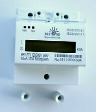120240v Electric Kwh Meter 5060hz Up To 100amps Single Phase Din Rail Type