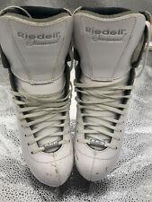 Riedell Diamond Figure Skates model 133 (white med) / Size 6 - used
