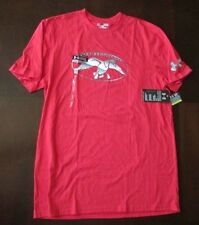 New Mens Under Armour Large Red Duck Commander Graphic Tee Charged Cotton NWT