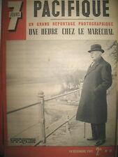 N° 58 PETAIN ST FLORENTIN-VERSIGNY LA MARTINIQUE CONVOITéE 4 PAGES 7 JOURS 1941