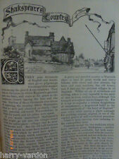 Shakespeare's Country Dingles Dursley Exhall Wixford Sicca Rare Old Article 1885