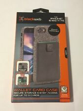 NEW! Blackweb Wallet Card Case for iPhone 6/ 7/ 8 - BWB17W1025 - Black Drop Test