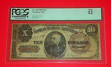 {USA/ 1890 $10 Treasury Note/ FR#366/Grade Fine 12/Superb Rare /Guaranteed 100%}