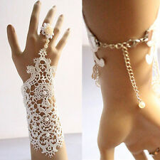 1 pc Wedding Bridal Vintage Exquisite Faux Pearl Lace Bracelet Jewellery Glove