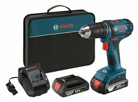 BOSCH DDB181-02 NEW 18V Compact 18 Volt Cordless 1/2 In. Drill Driver Kit