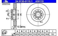 ATE Juego de 2 discos freno Antes 345mm ventilado para SEAT LEON 24.0130-0115.1