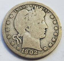 More details for usa 1902 mint barber quarter silver dollar coin lot 2