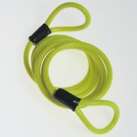 Motorcycle Biker Scooter Accessories Disc Lock Reminder Cable Yellow
