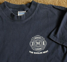 FDNY RIVERDALE The Eagles Nest Engine Ladder 52 blue t shirt size youth L