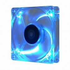 New Design PC Fan Ultra Quiet High Performance 80mm, 15T, 3/4 Pin ICE Blue LED