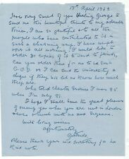 GONE WITH THE WIND SIGNED - VIVIEN LEIGH'S MOTHER WRITES TO GEORGE CUKOR !