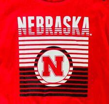 University of NEBRASKA T-shirt NEW Womens NCAA Plus 2X CornHuskers
