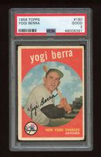1959 Topps Set Break #180 - Yogi Berra PSA 2 GOOD