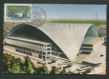 France Mk 1959 Palais du c.n.i.t. maximum tarjeta Carte maximum card mc cm d5057