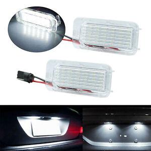 LED Licence Number Plate Light For Ford Fiesta Focus C-Max Kuga Mondeo Jaguar XF