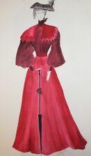 Vintage watercolor painting woman theatre costume design