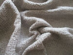 ROLL END OF 4.9 METRES OF SILVER GREY SOFT TEXTUED CHENILLE UPHOLSTERY FABRIC