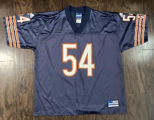 Brian Urlacher #54 Chicago Bears NFL Football Jersey Mens Size XL Adidas Blue