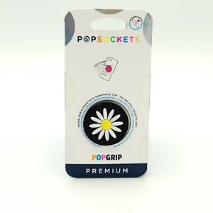 PopSockets PopGrip Cell Phone Grip & Stand - Festival Daisy Black -PREMIUM