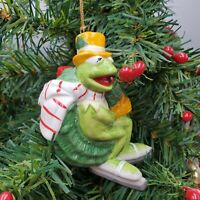 Kermit in Wreath Christmas Ornament Muppets Sigma Tastesetter Vintage