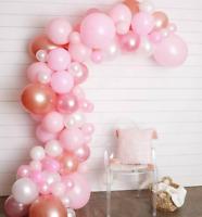 Girlande DIY Ballon Set Rosa/ Weiß/ Rosegold Hochzeit Party Deko Geburtstag