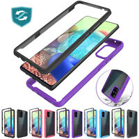 For Samsung Galaxy A71 5G Case Slim Clear Phone Cover Built-In Screen Protector