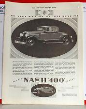 New listing 1928 magazine ad for Nash - Nash 400 Salon Cabriolet, for informal motoring