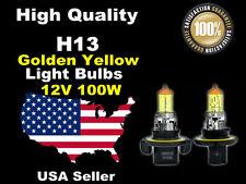 USA Seller Xenon Gas Headlight Light Bulb -100w Golden Yellow H13 High/Low Beam