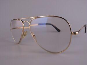 Vintage L'amy RAF Gold Filled Aviator Eyeglasses Size 50-21 Made in France