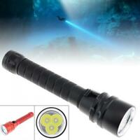 8000 Lumens Scuba Diving Flashlight 3 L2 LED Dive Torch 200M Underwater Lamp