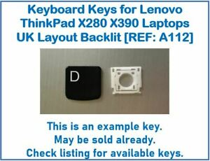 Keyboard Keys for Lenovo ThinkPad X280 X390 Laptops UK Backlit [REF: A112]